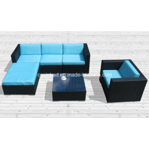 Outdoor Furniture Sofa Set with SGS Certificated (8201-blue)