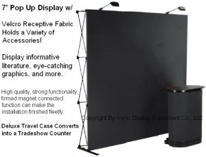 Trade Show Pop up Exhibit Display Magic Tape Fabric Banner Stand