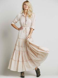 7f6e94a8411ac China High Quality Women Long Sleeve Plain Frock Design Waist Elastic  Chiffon Brief Casual Dresses for Women Plus Size - China Woman Dress