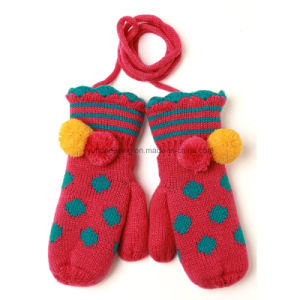 Hot Sale Warm Knitting Acrylic Jacquard Gloves & Mittens