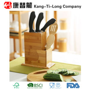 Bamboo Wood Kitchen Knife Holder Block