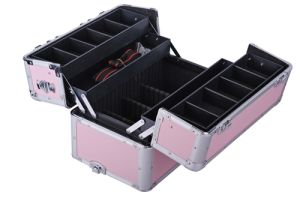 3 in 1 PRO Aluminum Rolling Makeup Case Salon Cosmetic Box Organizer Trolley Train Case pictures & photos
