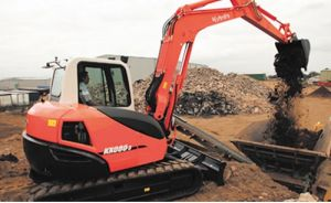 Kubota Mini Excavator (Operation weight: 1 5~8 3 ton, bucket capacity:  0 04~0 31m3)