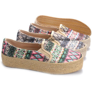 Hot Sale Women Shoes Outsole Jute Wrapped Foxing (SNC-28065) pictures & photos