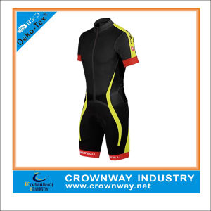 Cooldry Short Sleeve Compression Tight Cycling Apparel for Men pictures & photos