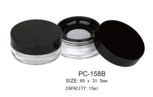 Round Plastic Loose Powder Case PC-158b pictures & photos