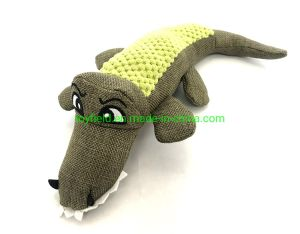Amazon Hot Sale Pet Supply Plush Dog Toy (New Plush Stuffed Squeaker Squirrel Crocodile Pheasant Dog Toy) pictures & photos