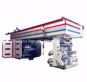 6 Color High Speed Central Drum Ci Flexographic Printing Machine