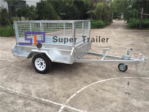 Competitive Price High Quality Galvanised Box Trailer with 600mm Cage