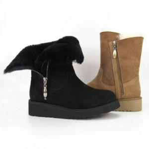 61f4cf1c698 Sheepskin Boot Wedge Heel