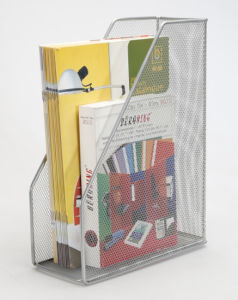 Metal Mesh Stationery Magazine Holder/ Office Desk Accessories