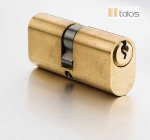 Euro 5 Pins Satin Brass Oval Secure Cylinder Lock pictures & photos