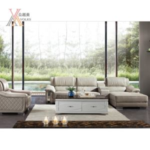 Living Room White Leather Sofa (1616A#)
