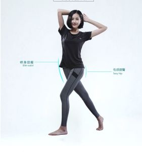 OEM Fashion Gym Suits Women Yoga Blouse and Leggings pictures & photos