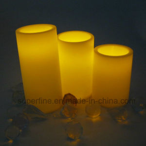 Set Christmas Decorative Romantic Battery Operated Glittering Flameless LED Candles pictures & photos