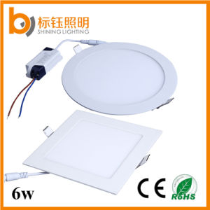6W Ceiling Lamp Square and Round Ultrathin Lighting Aluminum LED Panel Light pictures & photos