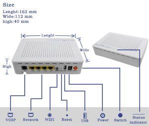 Epon ONU with 1ge 3fe 1VoIP WiFi FTTX Huawei Fiber Optic