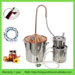 18L Own Use Copper Lid Stainless Steel Double Kegs Distiller