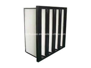 V-Bank Gas Turbine Medium /HEPA Filter for Air Handling Unit pictures & photos