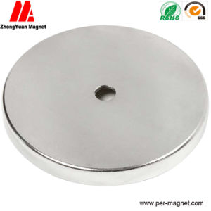 Large Round NdFeB Permanent Magnet with a Central Hole