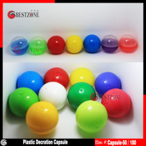 Solid Colorful Plastic Capsules or Plastic Balls for Decoration