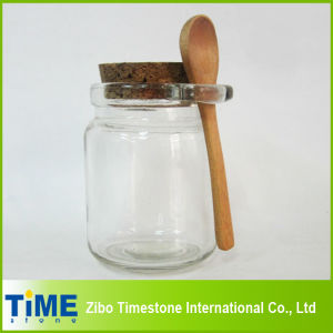 8oz 250ml Thick Clear Glass Storage Jar with Cork Lid pictures & photos