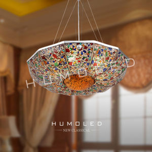 Fashion Multi Color Gl Pendant Lamp