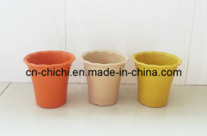 Flower/Plant Pot/Bamboo Fiber/Plant Fiber/Vase/Garden/Promotional Gifts/Home Decoration/Garden Decorations/Natural Bamboo Fiber Biodegradable Pots (ZC-F20175)