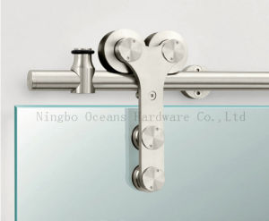 Glass Sliding Barn Door Hardware (DM-SDG 7008)