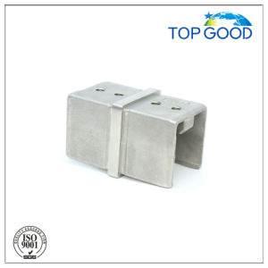 Stainless Steel Square Corner Horizontal Slot Tube Connector (53150)