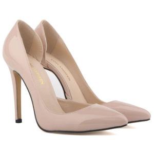 67fda14658b China 11cm High Heels Nude Colour Leather Shoe - China Shoe