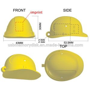 Custom Hard Hat Shape USB Flash Thumb Drive (Custom-016)