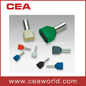 Crewel Tube Pre-Insulating Terminals Wire Connector Te Type Twin Cord End Terminal Pin Connector pictures & photos