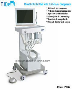 Movable Fashionable Dental Unit with Air Compressor (P187) pictures & photos