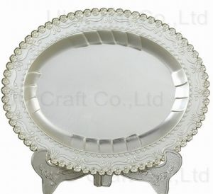 Oval Shaped Souvenir Plaque for Decoration (13-8059-1620)