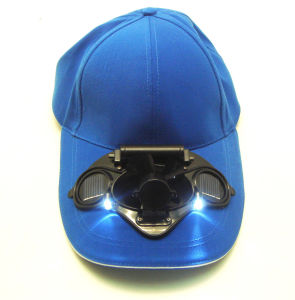 Baseball Cap With Solar Fan and LEDs (DSC-8)