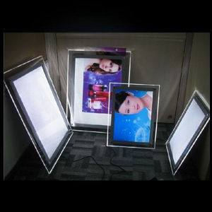 China Advertisement Crystal Light Box Acrylic Sheet Poster Frame Led