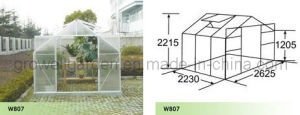 Aluminium Hobby Greenhouse for Garden (W807) pictures & photos
