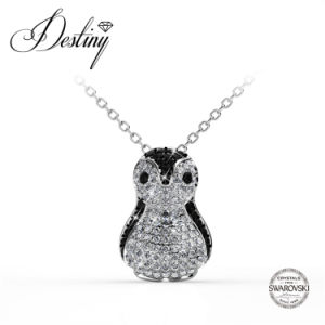 Destiny Jewellery Crystal From Swarovski Penguin Pendant & Necklace