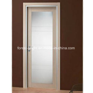 Modern Wood French Door with Glass, Glass Swing Door pictures & photos