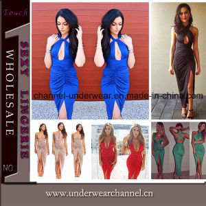 2015 New Sexy Bandage Party Women Cocktails Evening Dress (TP4503) pictures & photos