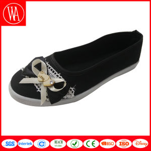 Fashion Flat Women Comfort Casual Shoes with Lace Bowknot