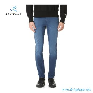 Classic Slim-Straight Cut Washed Stretch Twill Denim Men′s Jeans (Pants E. P. 4124) pictures & photos