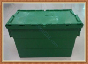 Nestable Theftproof Plastic Logistic Storage Box with Lid for Warehouse