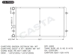 Favorable price radiator for Skoda Octavia′96-mt pictures & photos
