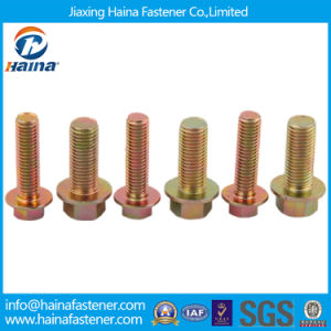 High Quality Color Zinc Plated Flange Bolts pictures & photos