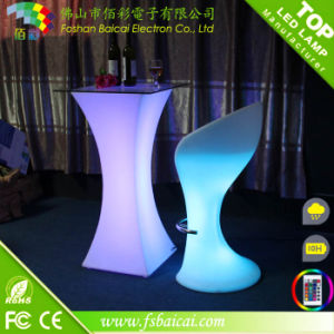 Outdoor Rechargeable Waterproof LED Cocktail Table Used Nightclub LED Cocktail Table Furniture for Sale