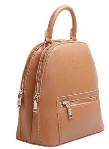 New High Quality Leather Backpack with Antimagnetic Pouch (B201)