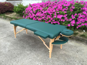 Portable Wooden Massage Bed Massage Couch (MT-006S-3) pictures & photos