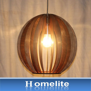 Simple Garden Style Wooden Decoration Pendant Light